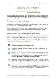 Checkliste Artikel schreiben - Kreativesdenken.com