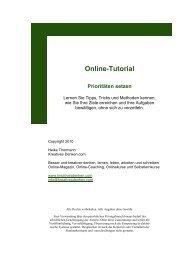Online-Tutorial Prioritäten setzen - Kreativesdenken.com