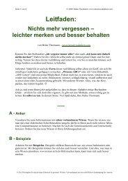 ABC-Liste - Kreativesdenken.com