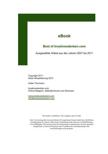 eBook Best of kreativesdenken.com