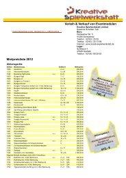 Preisliste 2012 - Memo-media GmbH