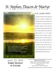 04/22/2012 - St. Stephen Deacon and Martyr
