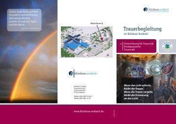 Flyer Trauerberatung - Klinikum Ansbach