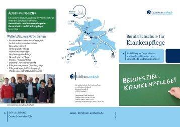 Flyer Schule - Klinikum Ansbach