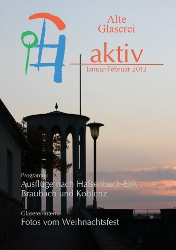 """aktiv"" für Januar/Februar 2012 - Seniorenresidenz Alte Glaserei"