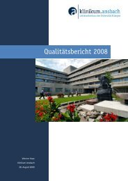 Qualitätsbericht 2008 - Klinikum Ansbach
