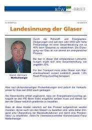 Landesinnung der Glaser - RfW Ring Freiheitlicher ...