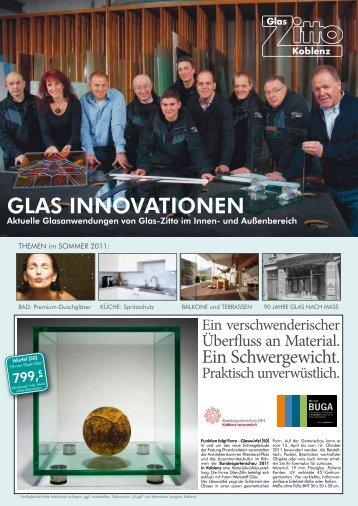 Hausprospekt Sommer 2011 - Glas Zitto Koblenz GmbH