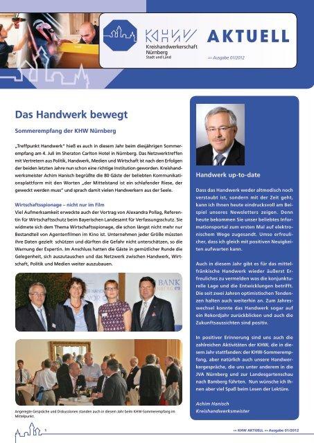 Das Handwerk bewegt - Kreishandwerkerschaft Nürnberg Stadt und ...