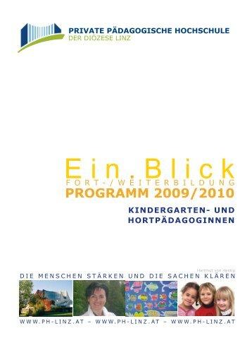 Ein . Blick - Private Pädagogische Hochschule der Diözese Linz