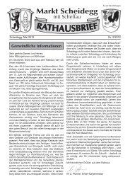Rathausbrief zum 15. Mai 2012 - Scheidegg