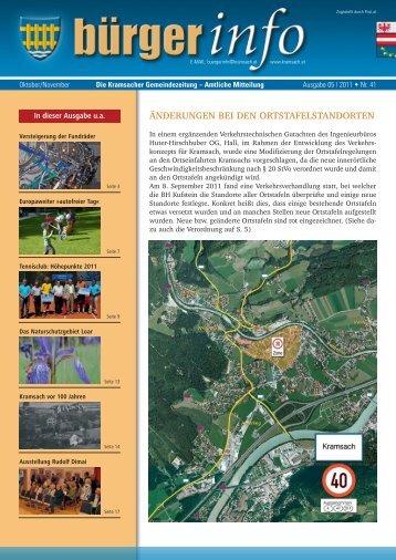änderungen bei den ortstafelstandorten - Gemeinde Kramsach