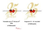 Timetable June 17 till June 27 2010 in Pfaffenweiler Programm 17 ...
