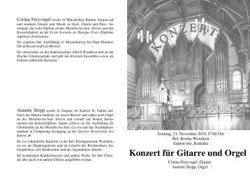 Konzert für Gitarre und Orgel