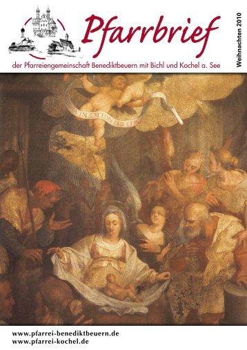 der Pfarreiengemeinschaft Benediktbeuern mit ... - Bistum Augsburg