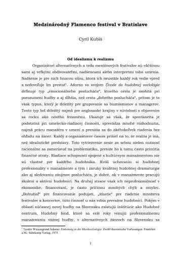 Flamenco festival a jeho historia - Musicologica