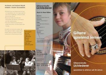 Gitarre spielend lernen - meingitarrenstudio.de