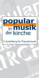 c_kurs_broschuere.indd - Jazz, Rock, Pop in der Kirche
