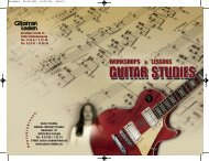 K o n t a k t a d r e s s e : - bei Guitar Studies
