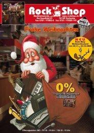 Frohe Weihnachten - Rock Shop GmbH