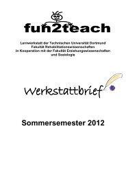 Werkstattbrief - Fakultät Rehabilitationswissenschaften - TU Dortmund