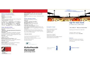 Kulturfreunde Darmstadt - Akademie für Tonkunst