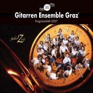 Programmheft 2007 - Gitarren Ensemble Graz
