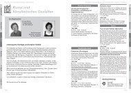 Kunst und künstlerisches Gestalten - Volkshochschule Dresden