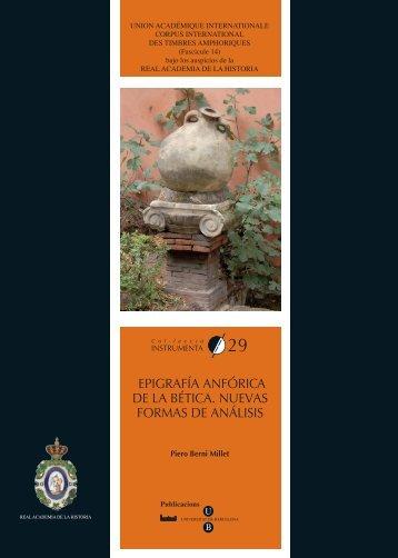 fuentes para datar los sellos - ceipac - Universitat de Barcelona
