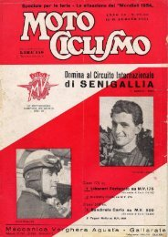 Motociclismo - Agosto 1954 - Comune di Caorso