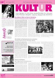 Die (Musik-) - KUF - Amt für Kultur und Freizeit