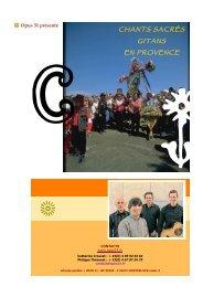 le dossier des chants sacres gitans en provence - Opus 31