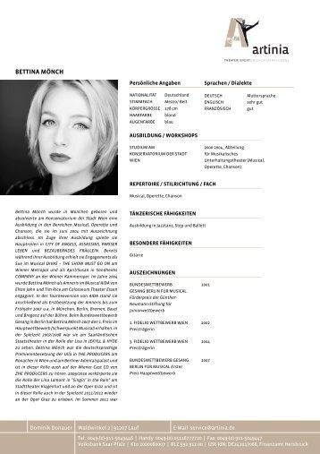 tabellarischer lebenslauf als pdf 05 mb bettina mnch - Bettina Wulff Lebenslauf