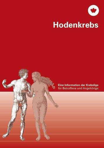 Broschüre Hodenkrebs - Krebsliga Zentralschweiz