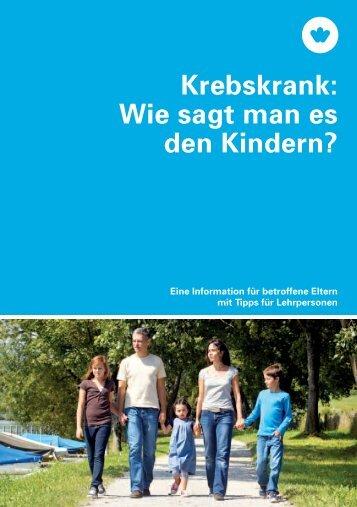 Wie sagt man es den Kindern? - Krebsliga Schweiz