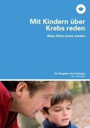 Broschüre - Mit Kindern über Krebs reden - Krebsliga Schweiz