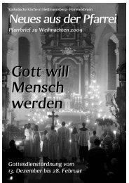 Weihnachten 2009 - Pfarrei Heldmannsberg