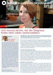 Herbstbrief 2012 herunterladen (PDF) - Krebsliga Zentralschweiz