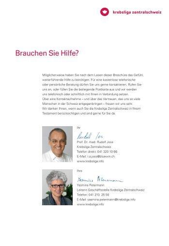 Weitere Informationen - Krebsliga Zentralschweiz