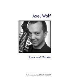 Axel Wolf - Andreas Janotta Arts Management