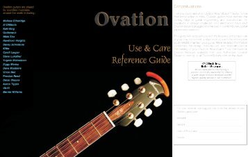 Owners manual warranty information esp guitars ovation owners manual publicscrutiny Image collections