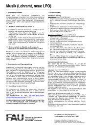 Musik (Lehramt, neue LPO) - Friedrich-Alexander-Universität ...