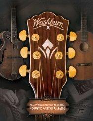 ACOUSTIC GUITAR CATALOG - Washburn Guitars
