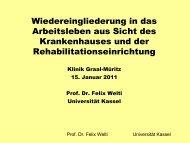 Prof. Dr. jur. Felix Welti - Krebs-Rehaklinik