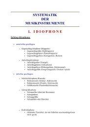 systematik der musikinstrumente 1. idiophone - Ethnomusicscape