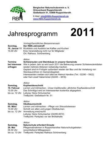 Jahresprogramm 2011 - Gemeinde Ruppichteroth