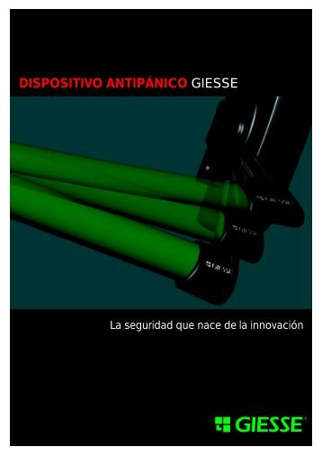 DISPOSITIVO ANTIPÁNICO GIESSE