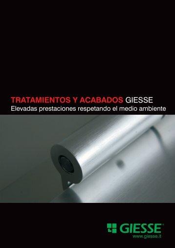 TRATAMIENTOS Y ACABADOS GIESSE
