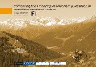 Combating the Financing of Terrorism (Giessbach II) - Basel Institute ...