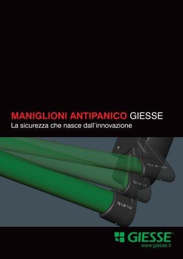 MANIGLIONI ANTIPANICO GIESSE